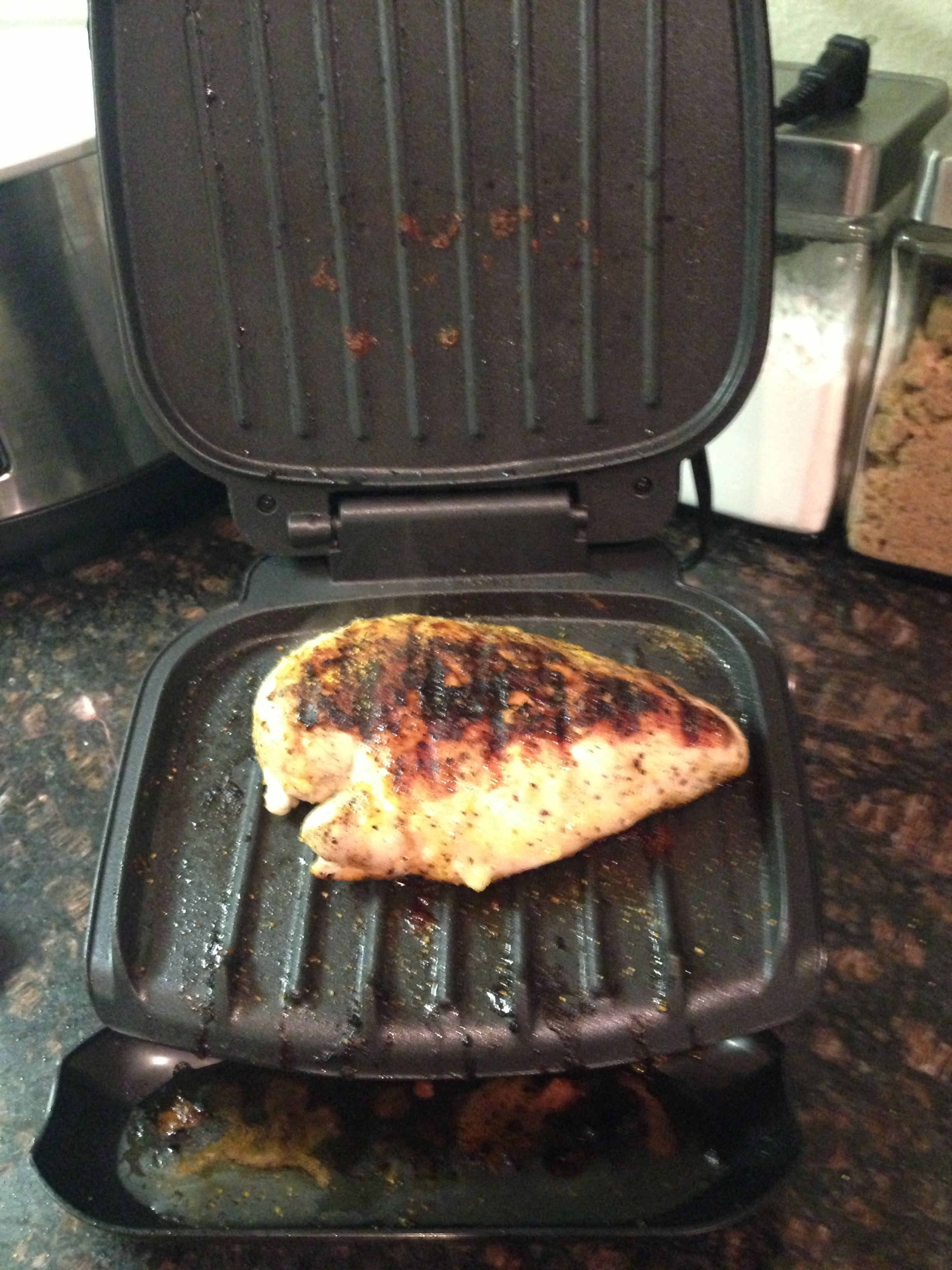 Chicken on the inside grill back in dallas for George foreman grill fish