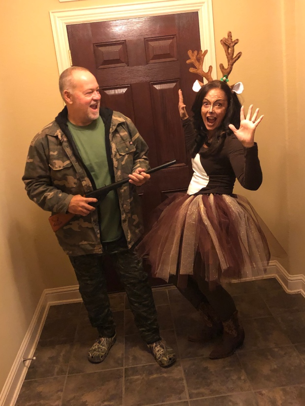 Hunter and Deer costume