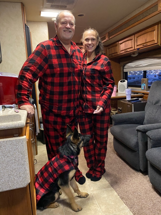Buffalo plaid matching pajamas